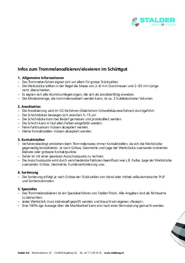 Infos Anodisieren Stalder AG DE
